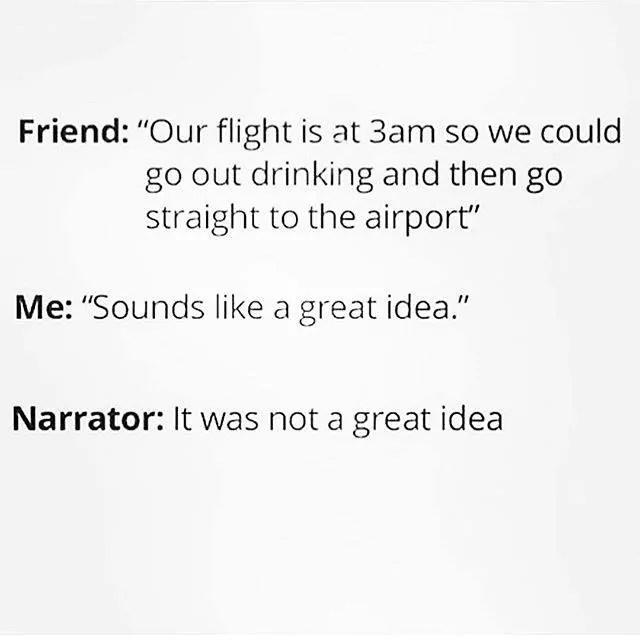 Drinking before a Flight meme
