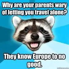 Europe Travel Meme