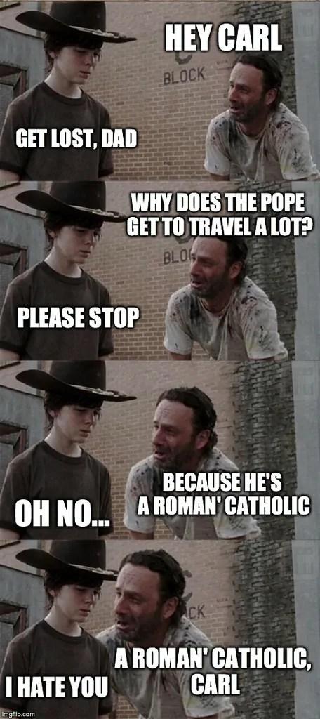 Roman Catholic Travel Meme