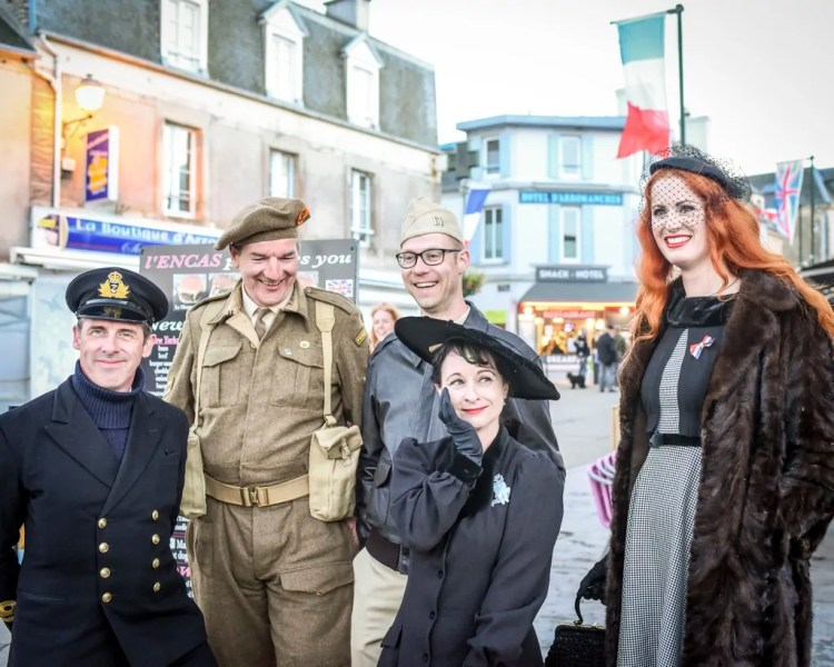 The festivities at Arromanches-les-Bains along Gold Beach