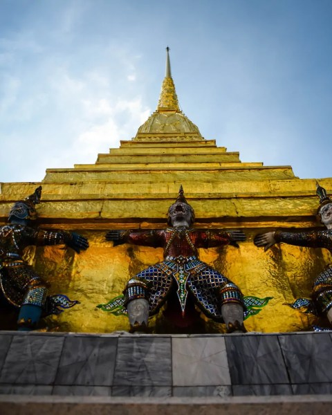 At the Temple of the Emerald Buddha