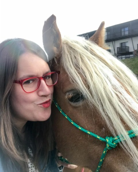 Horse selfie with Isabella