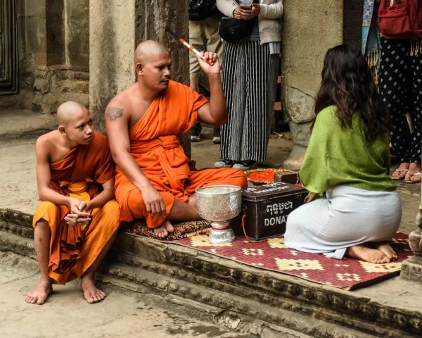 Buddhist Monks in Angkor Wat