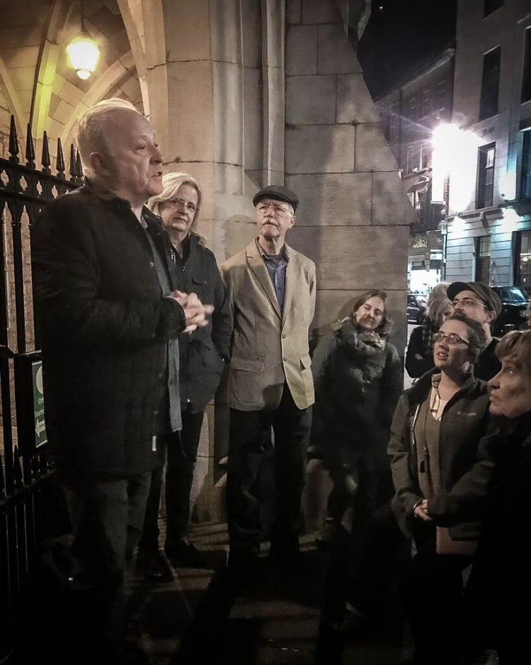 One of the final stops on the Dublin Literary Pub Crawl