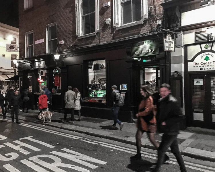 Walking to the next pub