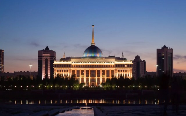 The Ak Orda Presidential Palace in Astana, home to President Nursultan Nazarbayev