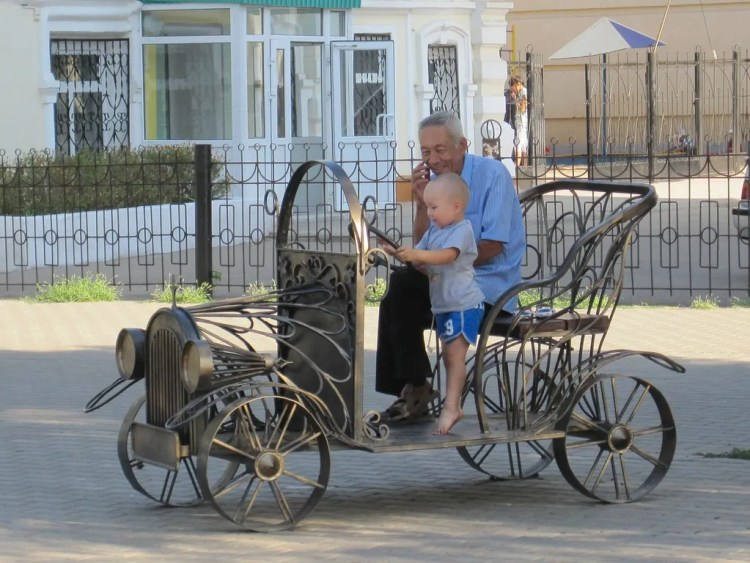 The children of Kazakhstan outnumber their older relatives by quite a bit.
