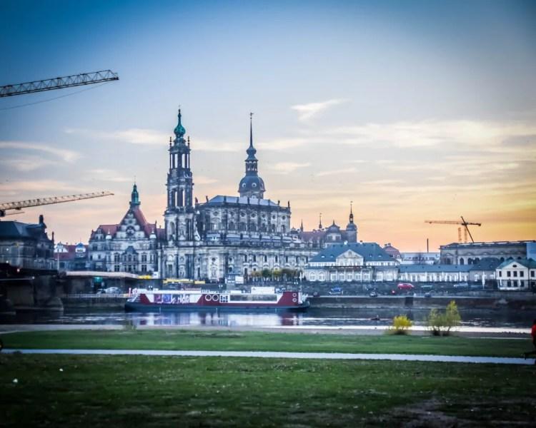 Germany - Dresden - View of Altstadt from Neustadt