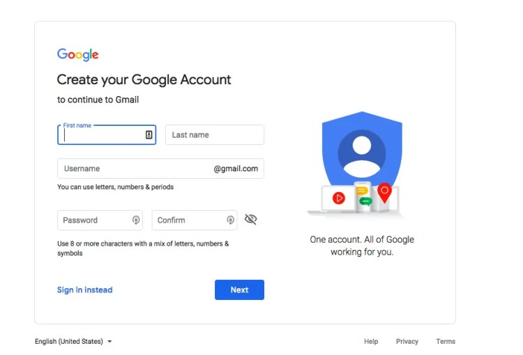 Set up a Gmail Account for Your Travel Blog