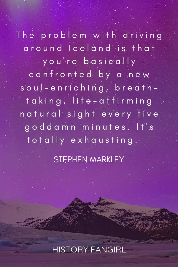 quotes about driving in Iceland