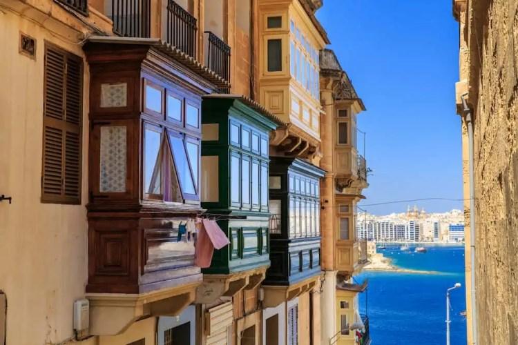 Malta - Maltese Balconies - Shutterstock