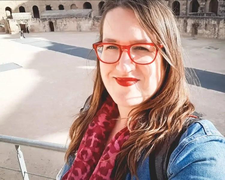 Tunisia - Stephanie at Roman Ruins