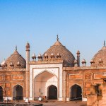 Jama Masjid of Agra,17th-century congregational mosque, built by Jahanara Begum during the reign of her father, Mughal Emperor Shah Jahan.