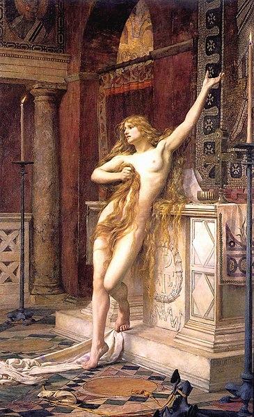 "Charles William Mitchell, ""Hypatia"", 1885"