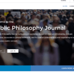 Screen Shot of Public Philosophy Journal web site