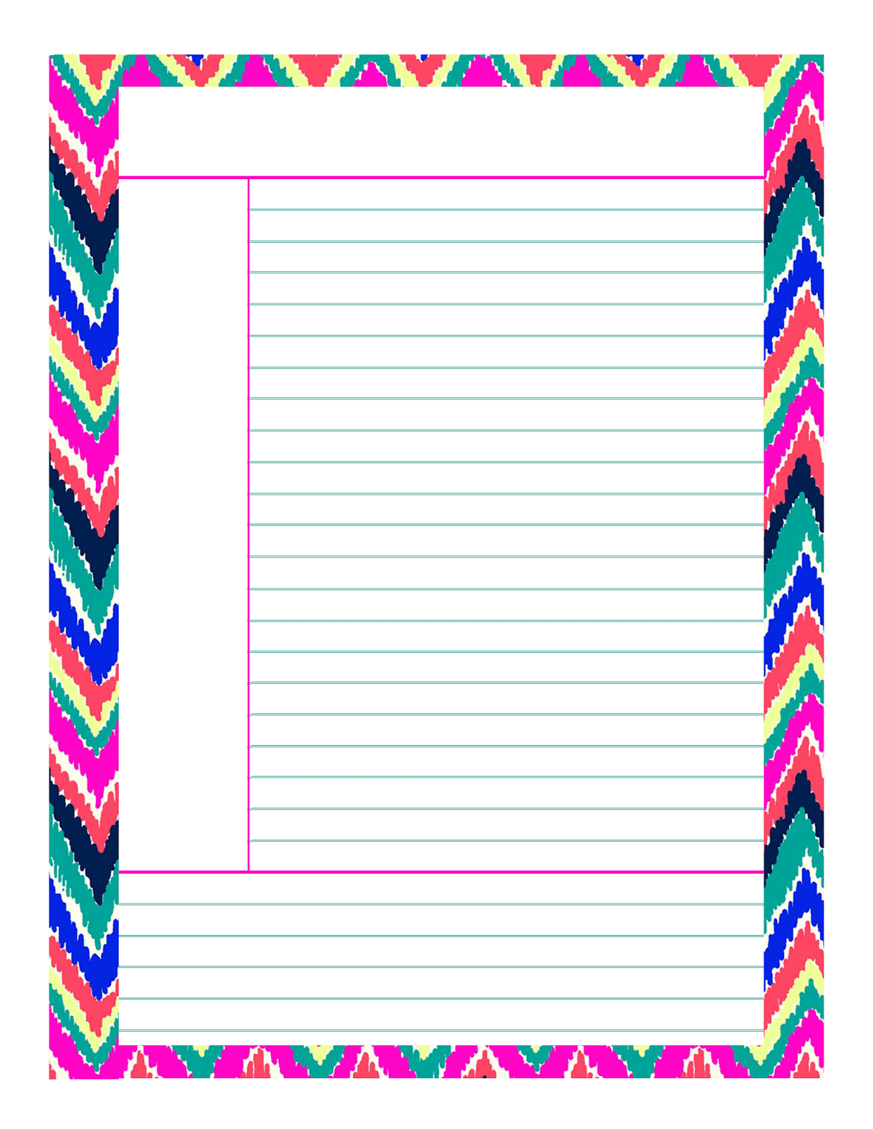 Happy Note Taking!  Note Template