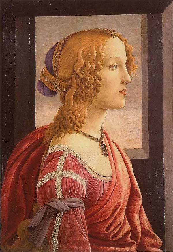 Portrait Of A Woman Simonetta Vespucci Of Botticelli