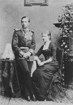Amazing Historical Photo of Prince William with Princess Augusta Viktoria of Schleswig-Holstein in 1880