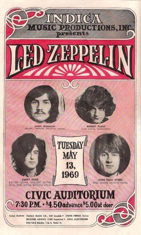 Check Out What Led Zeppelin Looked Like  in 1969