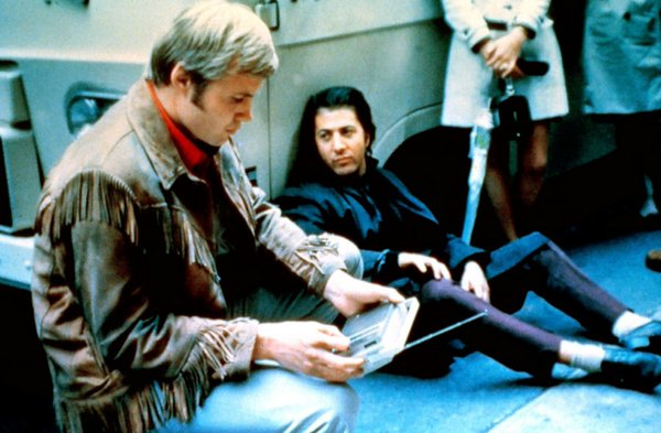 Fascinating Historical Picture of Jon Voight with Dustin Hoffman in 1969