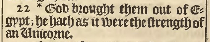 King James Bible 1611 Numbers 23:22 unicorns in the Bible