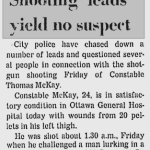 McKay shot in the alleyway. Source: Ottawa Citizen, November 1, 1968.