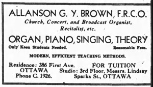 """Only Keen Students Needed."" Source: Ottawa Journal, September 2, 1933."