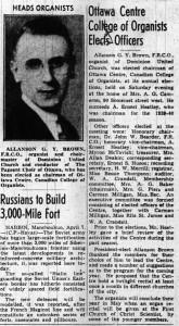 Meet your new chairman. Source: Ottawa Journal, April 8, 1940.