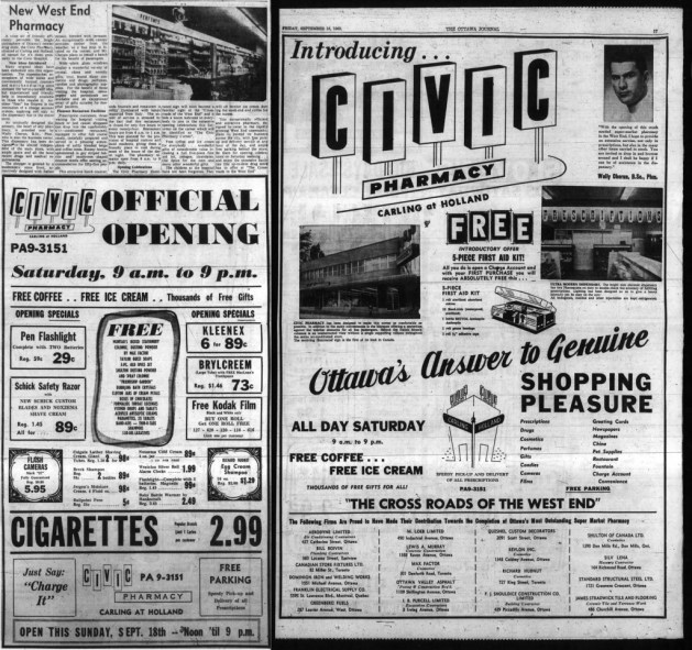 A one-and-a-half-page spread in the Journal. Source: Ottawa Journal, September 16, 1960