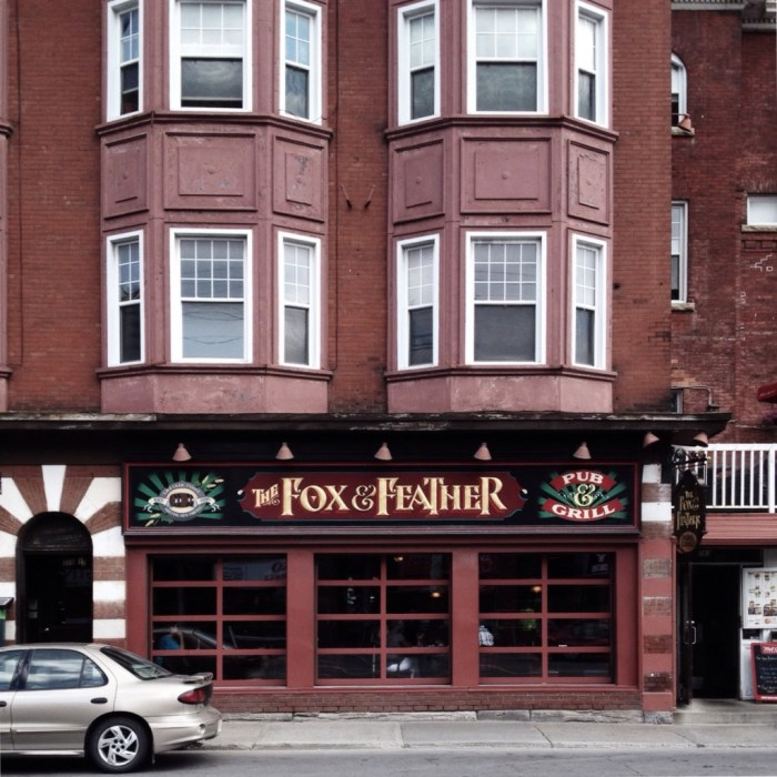 The Fox and Feather today. Image: June 2014.