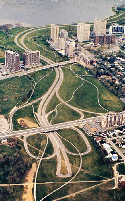 Though somewhat unrelated, this aerial photo from c. 1977 gives some context to the eastern edge of the property. Source: Lost Ottawa