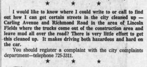 Those were early days. Source: Ottawa Journal, November 29, 1971, Page 40.