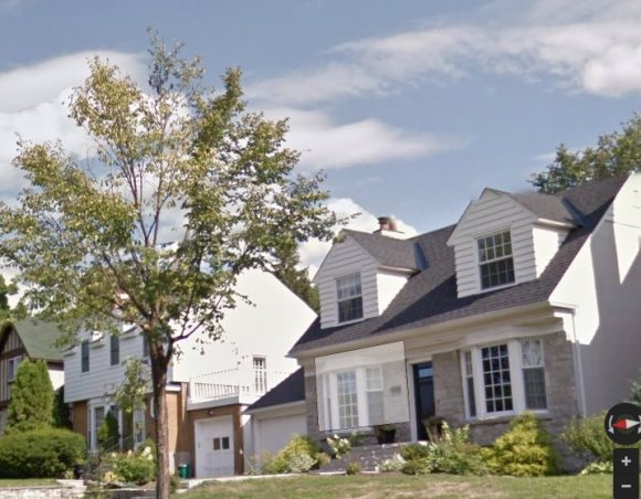 Island Park Drive, from a similar angle as the the construction photo that was published in the Journal. Source: Google Maps (Street View, Image date: August 2012)