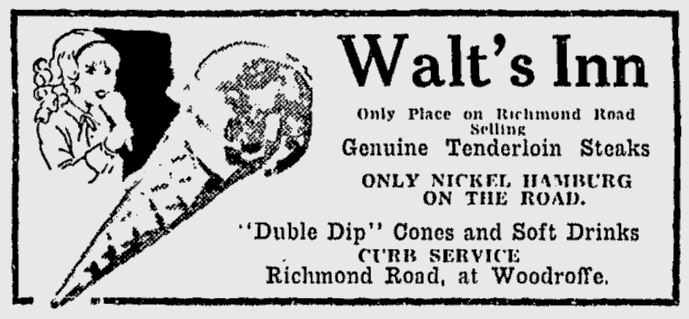 Come for the double-dip, stay for the only filets on Richmond Road. Source: Ottawa Citizen, June 29, 1935, Page 19.