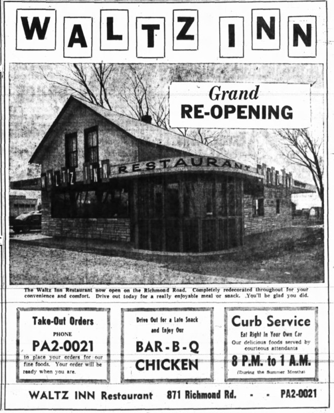 At the end of the 1950s, things were looking good. Curbside BBQ chicken? Yes please! Source: Ottawa Journal, April 25, 1958, Page 13.