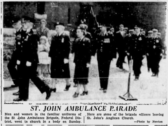 The Citizen went with a different shot in print. Source: Ottawa Citizen, June 27, 1955, p. 3.