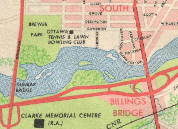 Nordic Circle was first identified as a park on the National Capital Commission's 1961 map.