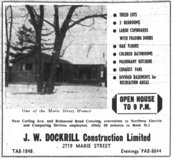 In spite of his being willing to construct apartments, Dockrill's focus remained the single family home.