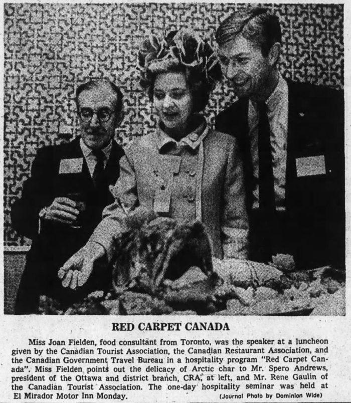 Sometimes, no hat. Source: Ottawa Journal, May 7, 1968, p. 21.
