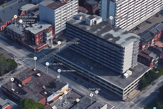 The Business Inn, yesterday's Bonaventure and a faithful carrying out of Witt's vision for the site. Image: Google Maps.