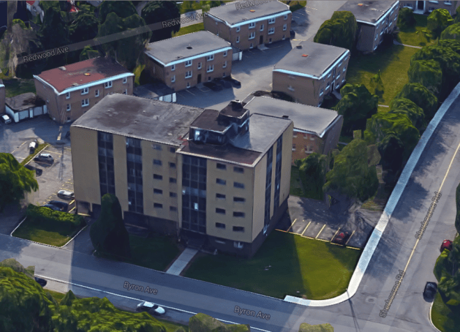 The Byron Apartments, located at 900 Byron Avenue.