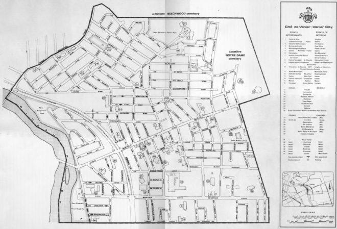 Map of Vanier. Source: Vaniernow.blogspot.ca