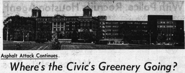 A growing city, a large hospital, a rapidly-growing car culture. All resulted in pressures being added to the Civic Hospital to provide. Source: Ottawa Journal, July 23, 1965, p. 3.