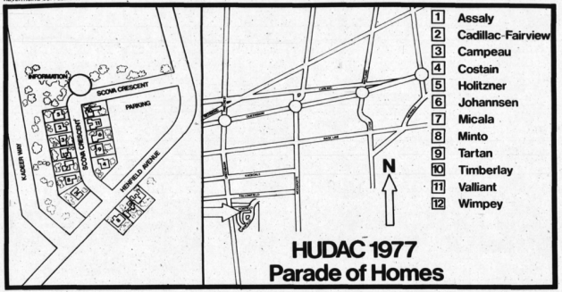 The Parade of Homes. Source: Ottawa Journal, September 9, 1977, p. 55.