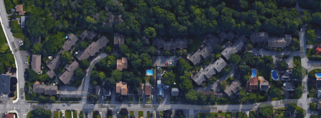 Island Park Estates was a joint development of Macval and Urbanetics. Image: Google Maps, 2015.