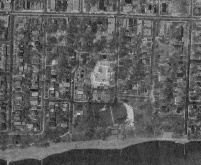 Aerial photograph of the development, 1973. Image: City of Toronto Archives, Series 12, Image 43.