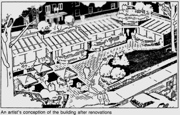 An artists' rendition of the renovation. Source: Ottawa Citizen, October 23, 1983, p. 23.