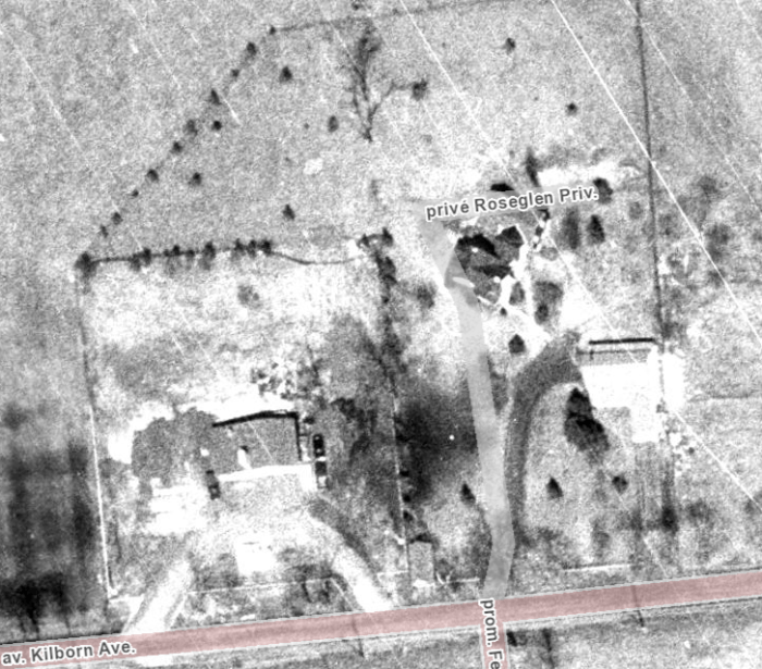 The property in 1965. Today it's the site of Rosewood Estates. Image: geoOttawa.
