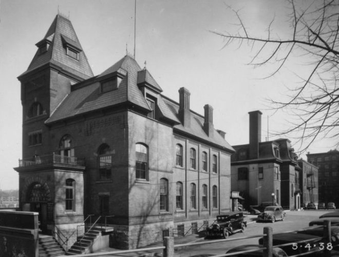 Etienne Lephrohon's 1888 Central Police Station is what the Waller station was constructed to replace. Image: Public Works / Library and Archives Canada 1966-090 NPC Box T-1819 Page 14.