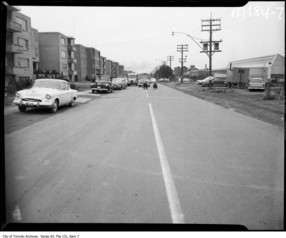Eglinton at Laird, 1955. Image: City of Toronto Archives Fonds 220 Series 65 File 131 Item 7.